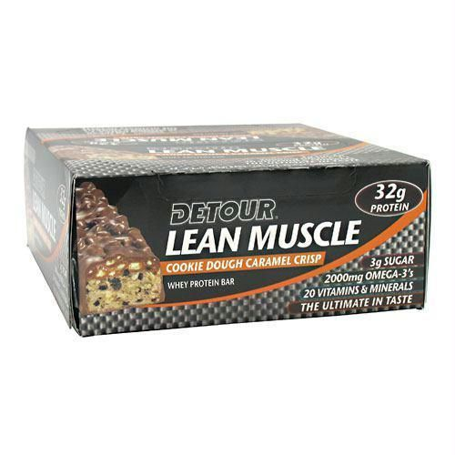 Forward Foods Detour Lean Muscle Whey Protein Bar Cookie Dough Caramel Crisp