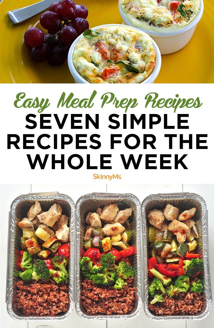 Easy Meal Prep Recipes: Seven Simple Recipes For the Whole Week