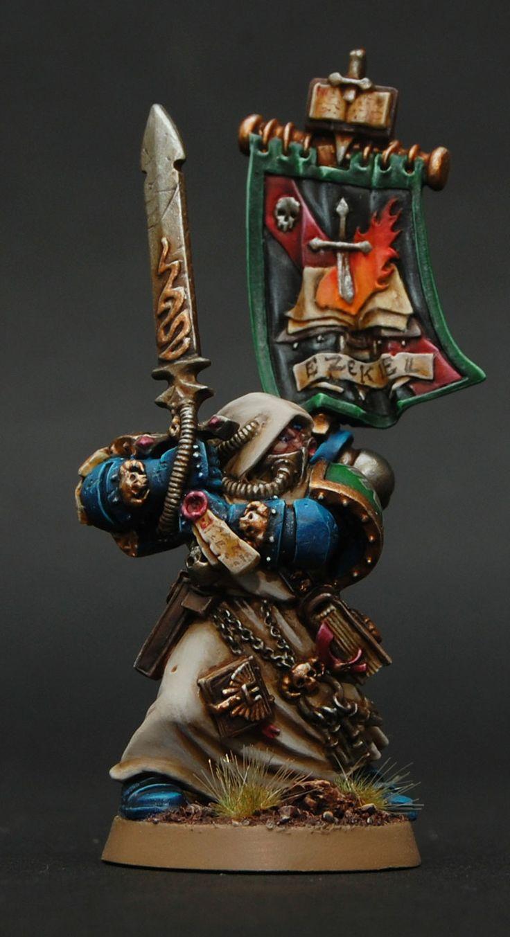 40k - Ezekiel, Dark Angels Grand Master of Librarians by Gimiak