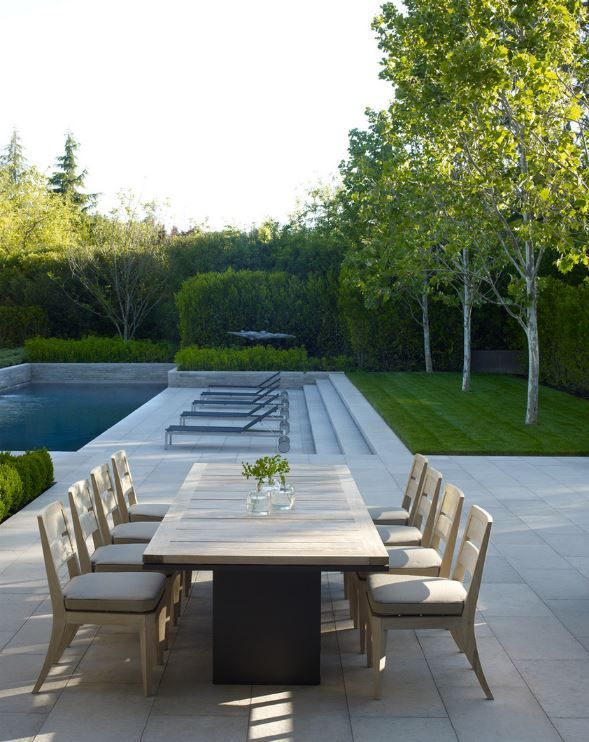 California Dreaming. Andrea Cochran Inspiration for Ian Barker Gardens. Outdoor entertaining area and pool.