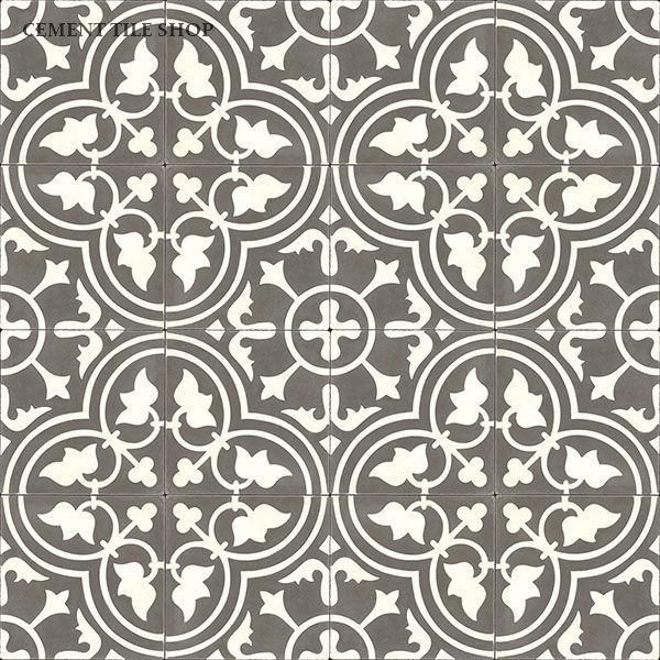 Cement Tile Shop - Handmade Cement Tile | Roseton Charcoal