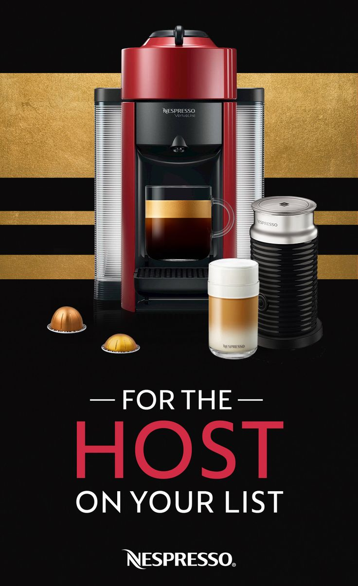 Everyone knows a perfect party host. This year, gift them the Nespresso Evoluo so they can make sure all their guests enjoy a personalized beverage.   -Makes Espressos, Americanos, and two coffee sizes  -Makes up to four beverages without refilling water tank  -Heats up within seconds  -One-touch convenience