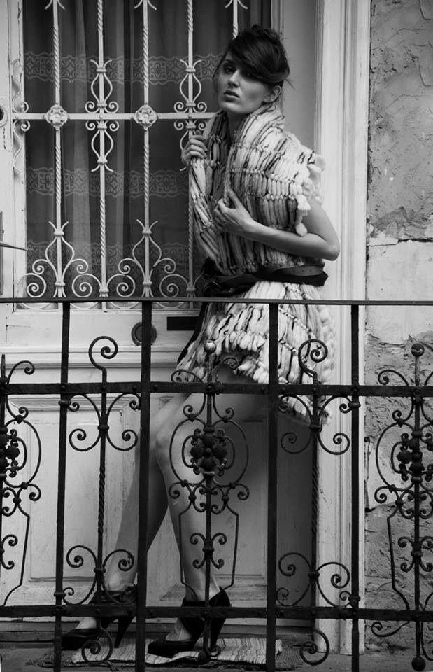 Collection of woolen women's clothing by Jana Mikešová  #wool #fashion #macrame #dress #vest #janamikesova #shooting #photo #budapest https://www.facebook.com/JanaMikesovaFashionDesigner