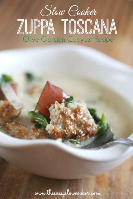 Olive gardens, Zuppa toscana soup and Toscana soup on Pinterest