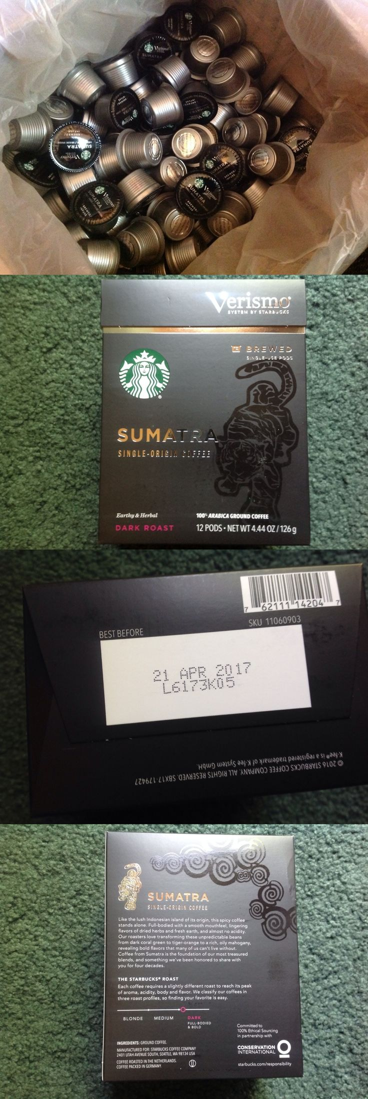 Coffee Pods and K-Cups 79630: Lot Of156 Individual Pods Starbucks Verismo Sumatra Coffee 13Box Exp4 2017 -> BUY IT NOW ONLY: $65 on eBay!