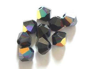 Jet AB - Swarovski Crystal Elements 5328 Xilion Bead Bicones 3mm  #Swarovski #Crystal #Crystalbeads #5328 #5301 #bicone #jewelrysupplies #anybeads