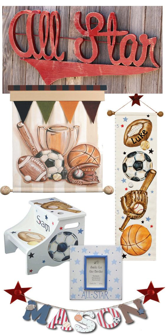 Canvas growth chart sports theme football by AveQcollection  sc 1 st  Pinterest & 25 best Hand Painted Step Stools images on Pinterest | 2 step ... islam-shia.org