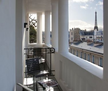 View Terrace Chambre / Room Deluxe at Hotel Marignan Paris, Eiffel Tower