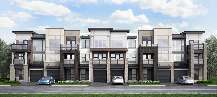 Modern Townhomes With A West Coast Feel Balconies And