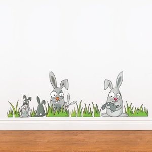 Rabbits Wall Decal Color print: Amazon.ca: Home & Kitchen