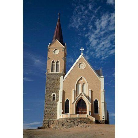 Felsenkirche (Rock Church) Diamond Hill Luderitz Southern Namibia Canvas Art - David Wall DanitaDelimont (18 x 24)