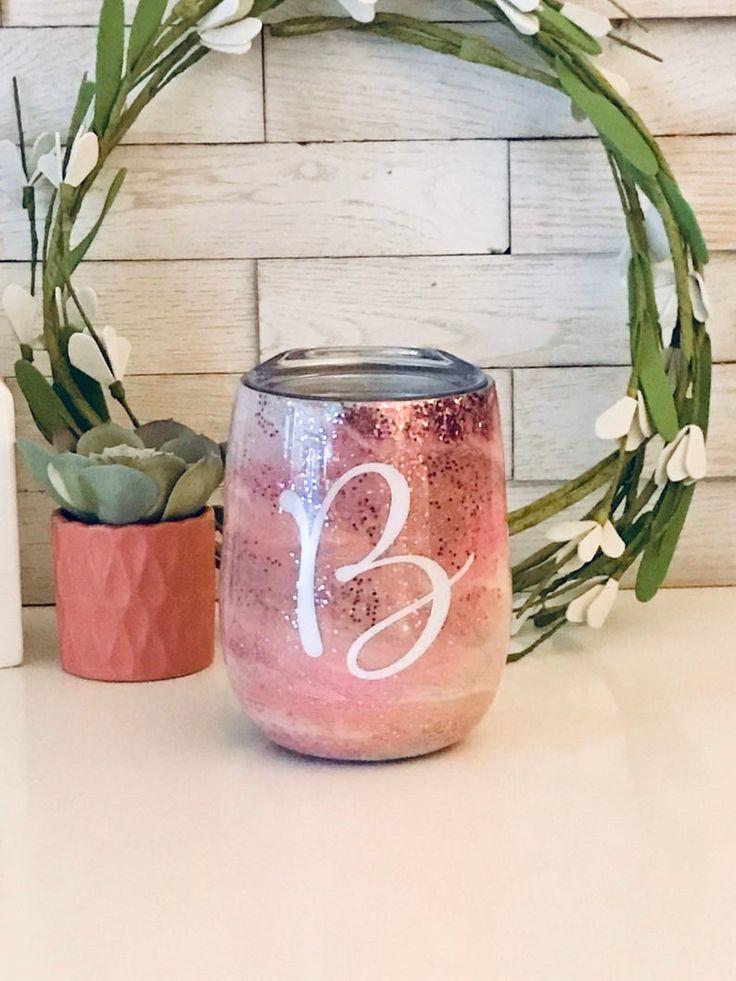 Custom tumbler glitter paints prints decals in