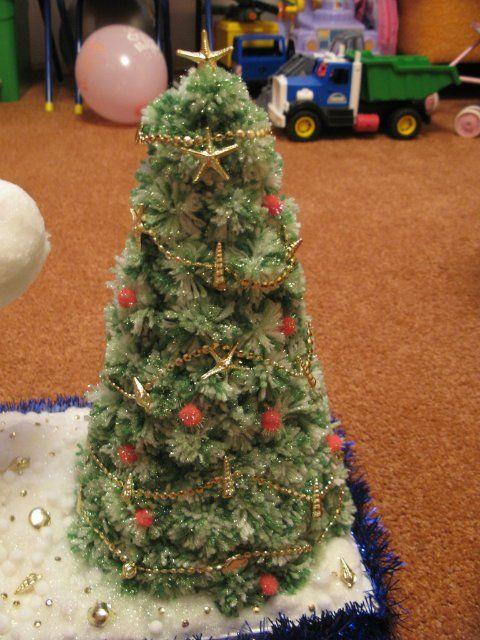 pom de Crăciun, om de zăpadă, ghirlandă și alte ornamente de Crăciun de pomponuri.  master-class + film
