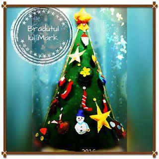 POIANA CU GAZUTZE: Bradut din fetru poate sta singur, avand forma con...  #fetru #handmade #craciun #cadou #moscraciun #jucarie #coronita #mosnicolae #sarbatori #decoratiuni #ornamente #felt #christmas #ornaments #decorations #toys #christmastree #santa #gift