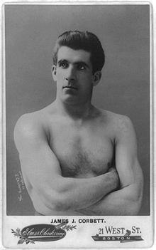 "James John ""Gentleman Jim"" Corbett (September 1, 1866 – February 18, 1933) was an American professional boxer and a World Heavyweight Champion, best known as the man who defeated John L. Sullivan."