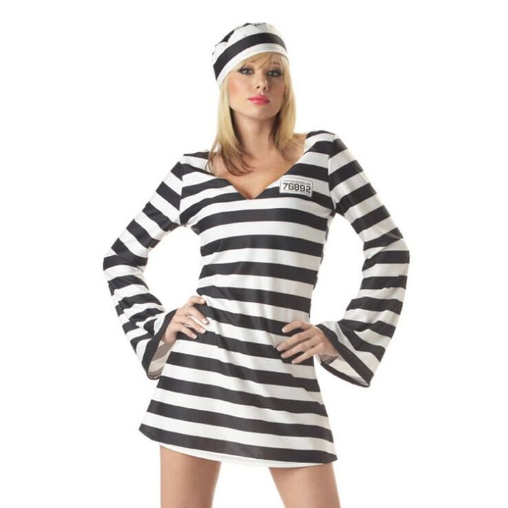 Hot Sale Women Prisoner Halloween Costumes Christmas Cosplay Role Play Animated…