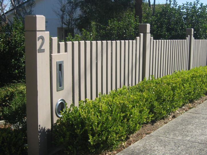 pine paling fence