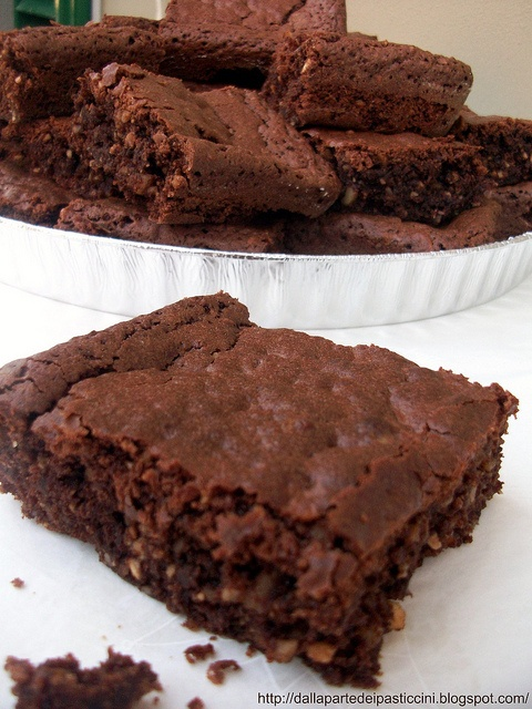 chocolate walnut brownies /brownies al cioccolato e noci