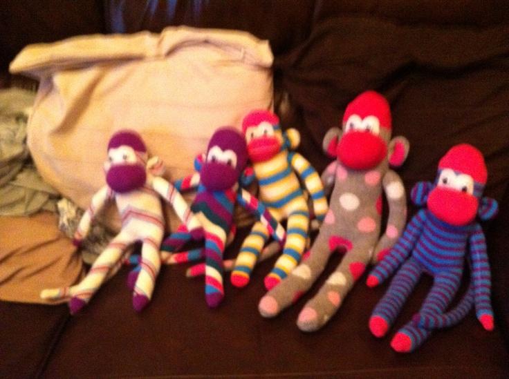 Sock monkeys are addictive !