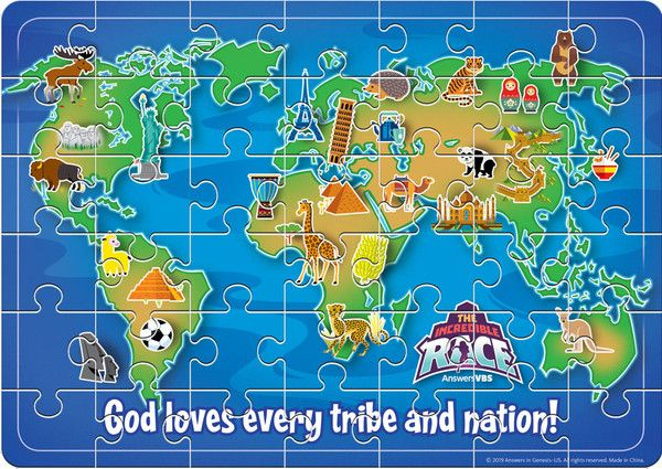 Magnet Jigsaw Puzzle - The Incredible Race VBS By Answers | The
