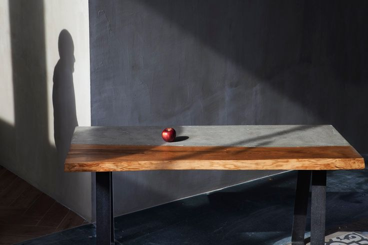 #custom #dining #table #handmade by www.greymatters.gr order your own now!! #concrete #wood #cement #beton #greekdesign