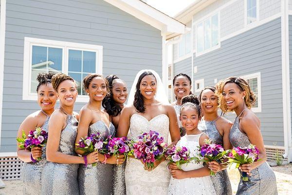 Tropical Glam Bride and Her Bridesmaids    #wedding #weddings #weddingideas #aislesociety #tropicalweddings