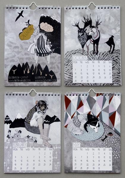 Wandkalender für 2013