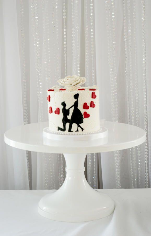 Engagement congratulations cake  - Cake by Piece O'Cake