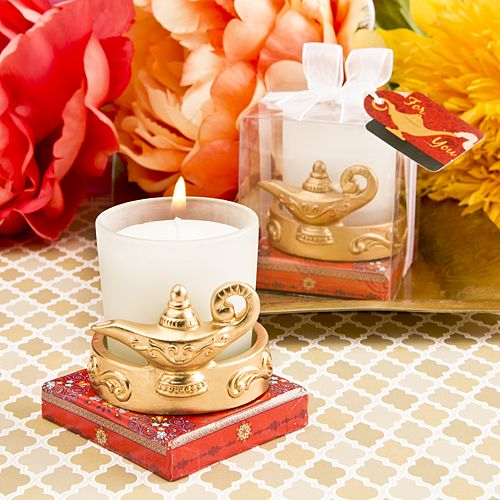 Gold Magic Aladdin Lantern Candle Votive Holder