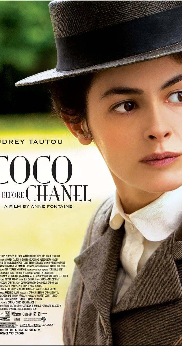 Directed by Anne Fontaine.  With Audrey Tautou, Benoît Poelvoorde, Alessandro Nivola, Marie Gillain. The story of Coco Chanel's rise from obscure beginnings to the heights of the fashion world.