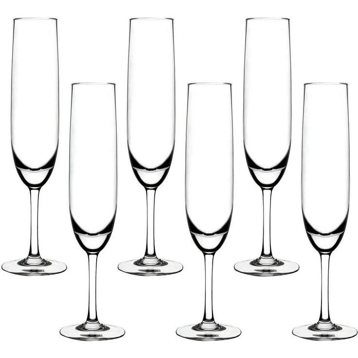 Taça Cristal Blumenau Champagne Flute 6 Peças - Submarino.com.br