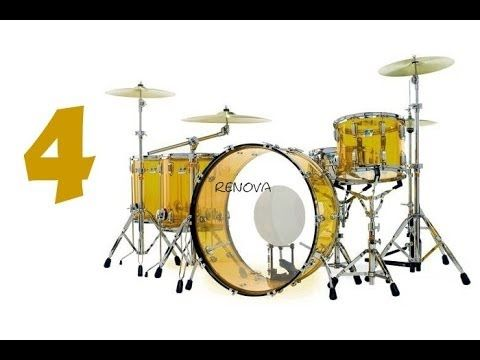 bateria de papel #4 john bonham drum set-(pratos de choque)
