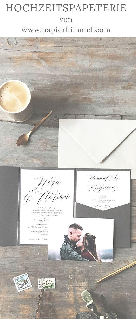 Coole Hochzeitseinladungen Von Www Papierhimmel Com Hochzeit