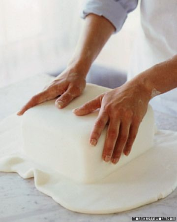 How to smoothly cover a crumb-coated cake with fondant
