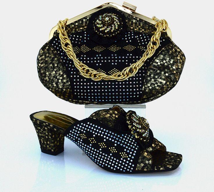 2017 beliebte Italienische Mode Frauen Schuhe Und Taschen Design Damen Sandale Nigerianischen Hochzeits Afrikanische Schuhe Passenden Taschen MM1011 //Price: $US $63.27 & FREE Shipping //     #abendkleider