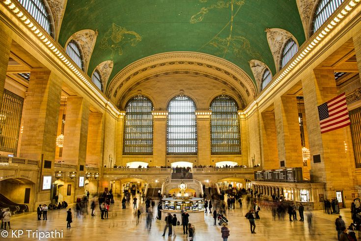 https://flic.kr/p/buXe8S | Grand Central Station | Visit my Website Like me on Facebook Grand Central Terminal (GCT)—colloquially called Grand Central Station, or shortened to simply Grand Central—is a commuter rail terminal station at 42nd Street and Park Avenue in Midtown Manhattan in New York City, United States. Built by and named for the New York Central Railroad in the heyday of American long-distance passenger trains, it is the largest train station in the world by number of…