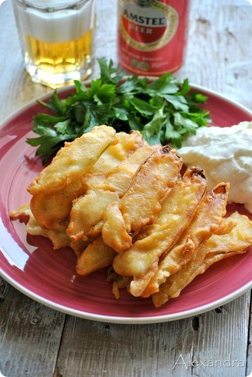 Batter for Greek fried zucchini. Χυλός για τηγανητά κολοκυθάκια