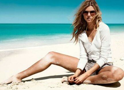 Старшеклассница на пляже