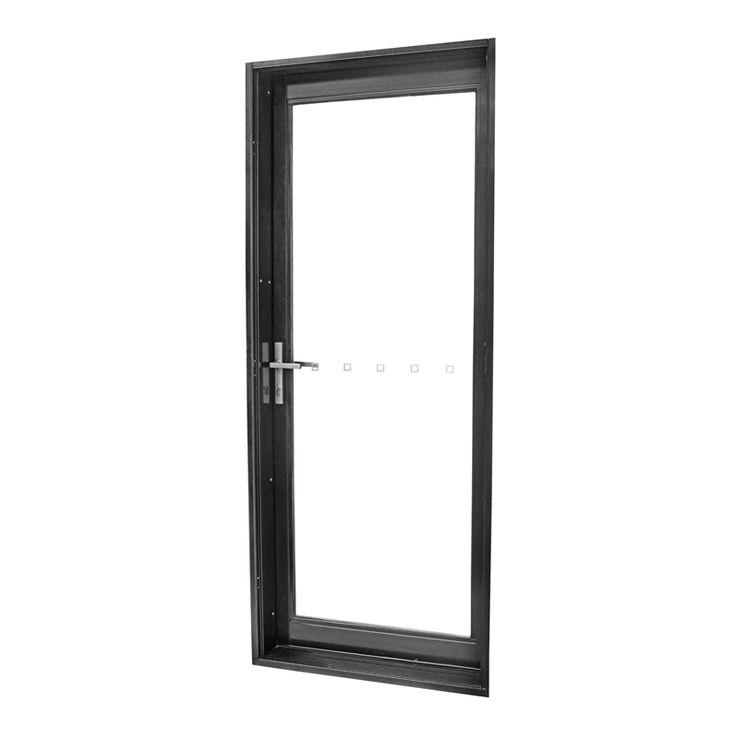 Polar 2040 x 820mm Black Aluminium Double Glazed Full Lite Door With Hardware Kit I/N 1040868 | Bunnings Warehouse