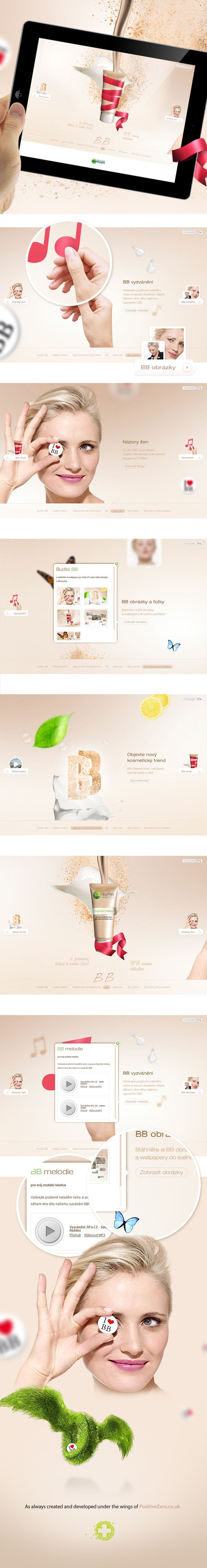 Garnier BB Cream by PositiveZero.co.uk , via Behance