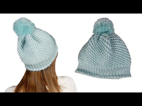 Tricotin - Bonnet point spirale / Loom Knitting - YouTube