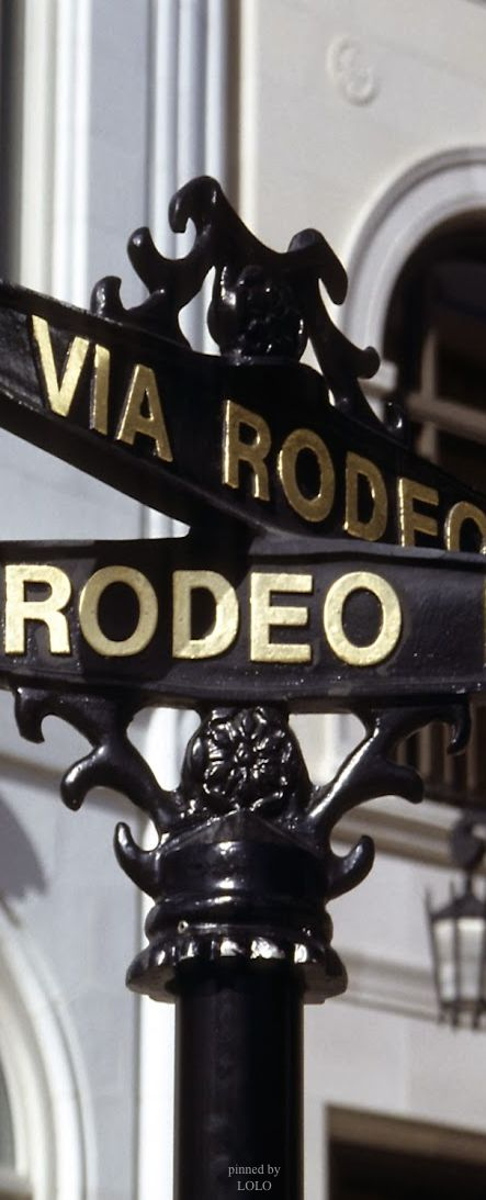 Rodeo Drive.. Such a beautiful and charming street with quaint tea shops, boutiques and restaurants.