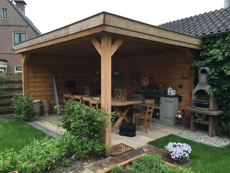 17 beste afbeeldingen over overkapping veranda op pinterest tuin buitenleven en schuren - Pergola dak platte ...