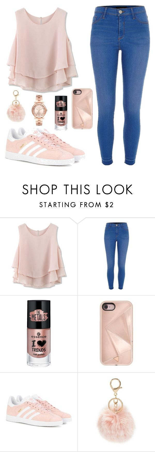 """Blush☺️"" by babyyfinee30 ❤ liked on Polyvore featuring Chicwish, River Island, Rebecca Minkoff, adidas Originals, BP. and Michael Kors"
