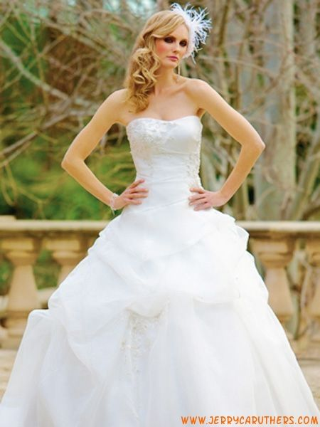 vintage corset prinses organza bruidsjurk