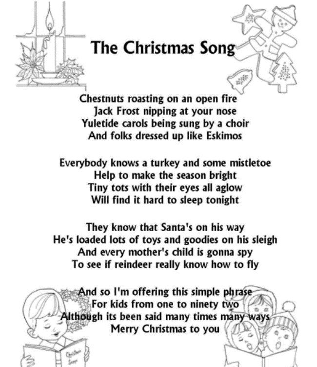 39 best Christmas Songs ~ Lyrics images on Pinterest | Christmas ...