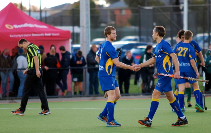 AHC Legends Steve Campbell and Mat Higgins before Higgo's 300th game.