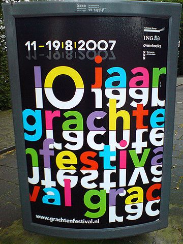 poster in the city of Amsterdam: 10 jaar grachtenfestival on Flickr - Photo Sharing!