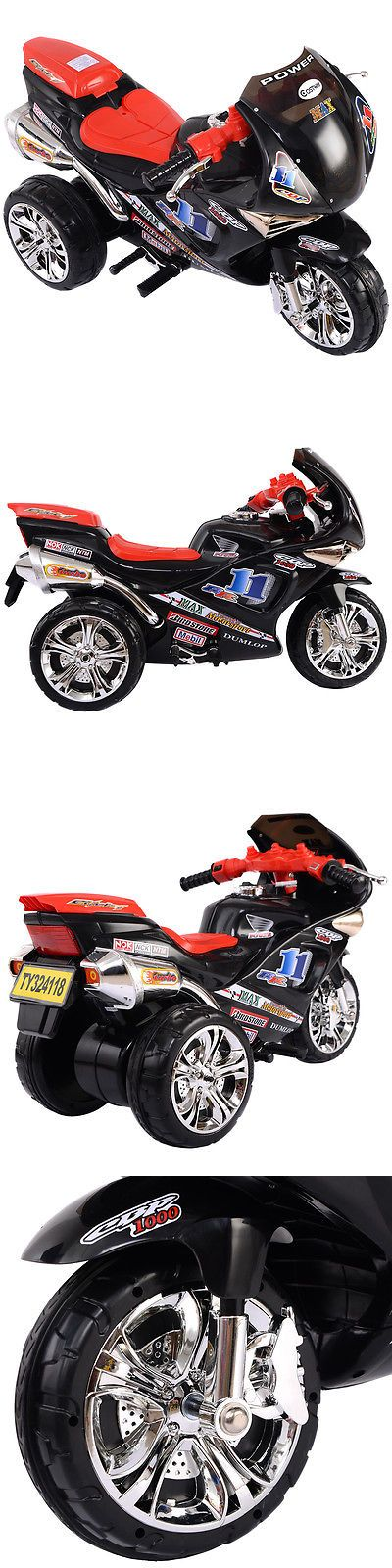 Ride On Toys and Accessories 145944: 3 Wheel Kids Ride On Motorcycle 6V Battery Powered Electric Toy Power Bicyle New -> BUY IT NOW ONLY: $69.99 on eBay!