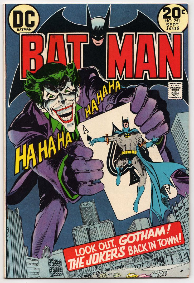 "Another great cover by Neal Adams and another great comeback by the iconic Batman villain The Joker. When was the last time readers saw him in the late sixties? Denny O'Neil had been writing Batman stories mixing the macabre with the detective story skillfully, so why not revive the dangerous killer? This is ""The Joker's Five-Way Revenge"" in September 1973."
